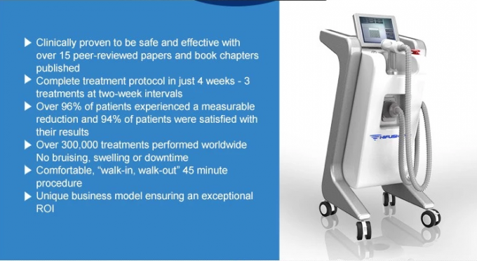Fat Removal Ultrasound HIFU Body Slimming Machine 0.5-1.5S Adjustable Pulse Width