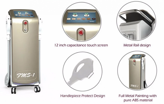 Mobile Derma Hair Removal Machine , Personal IPL Permanent Hair Removal Machine