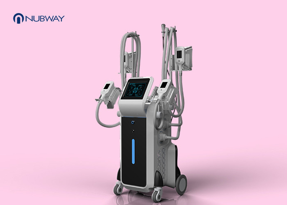 China Cellulite Reduction Cryolipolysis Slimming Machine 4 Handles Working Simultaneously supplier