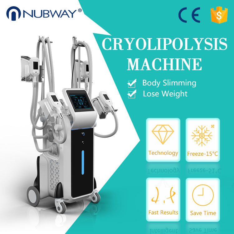 4 cryo handles work together cyolipolysis slimming machine fat feeze