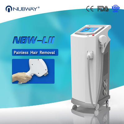 China Nubway Painless Permanent 808nm Diode Laser Hair Removal Machine distributor