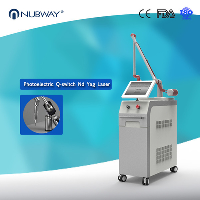 China 1064nm 532nm Q Switched Nd Yag Laser Tattoo Removal Pigmentation Removal Machine distributor